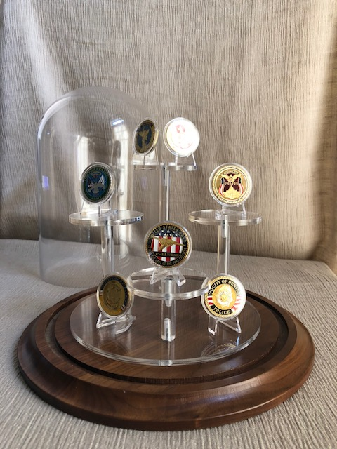 "Challenge Coin Display Dome - 10"" x 10"""