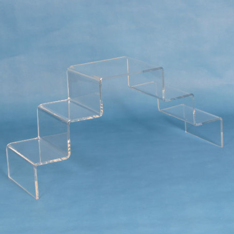 Lucite Risers - Double Stairway Step Displays