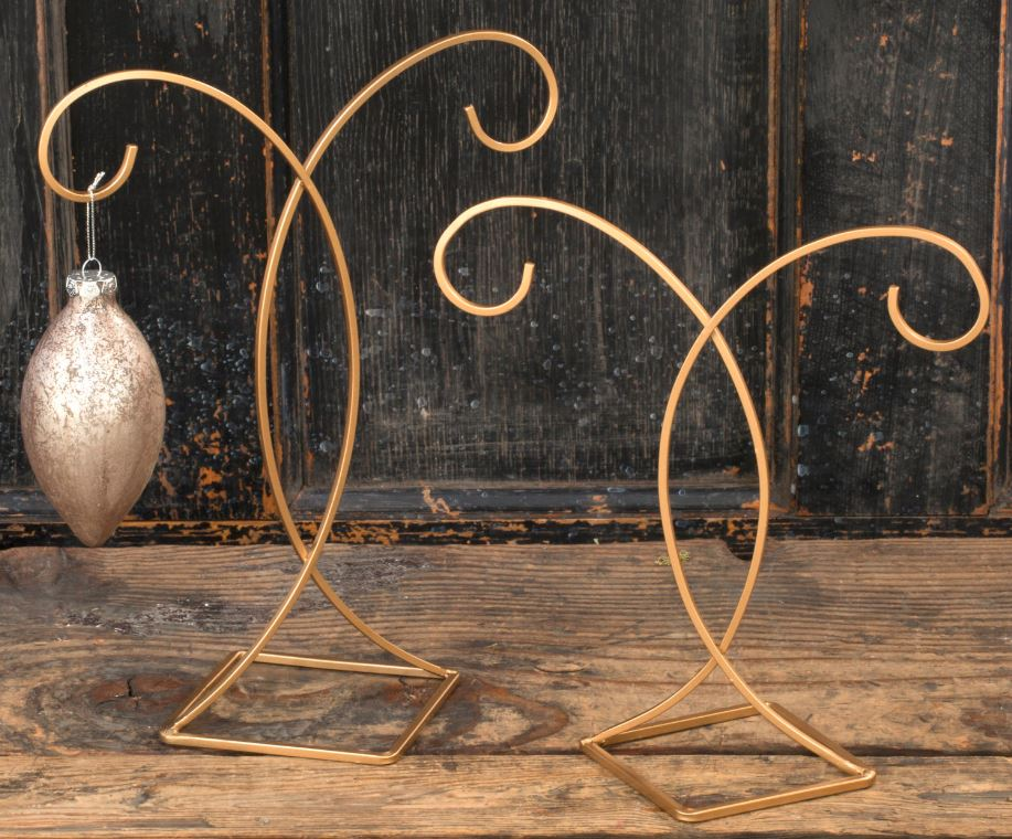 Ornament Stands - Gold Double Ornament - Set of 6