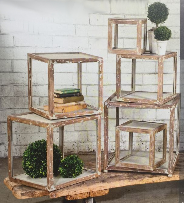Display Risers - Distressed Shelves - Set of 6