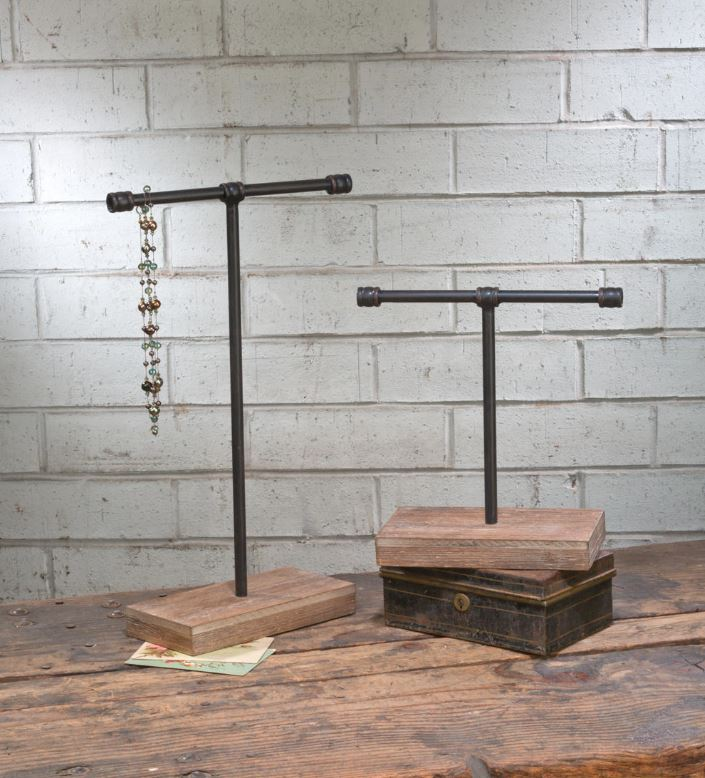Ornament Displays - Industrial T Bar - Set of 2