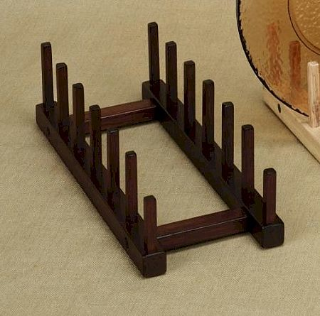 Plate Holders - Walnut - Tabletop Six Place - Set of 4