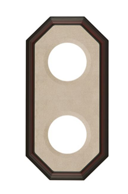 "Plate Frames - Octagon for  7"" to 9"" Plates Double Vertical"