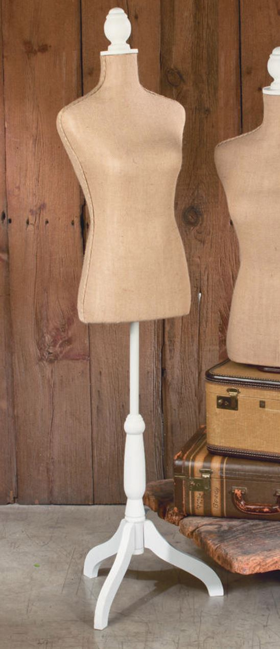 Jute & Burlap Floor Standing Top Body Form