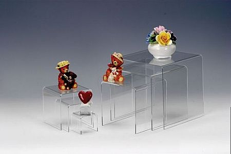 Lucite Risers (Small) - Equal Height  Square