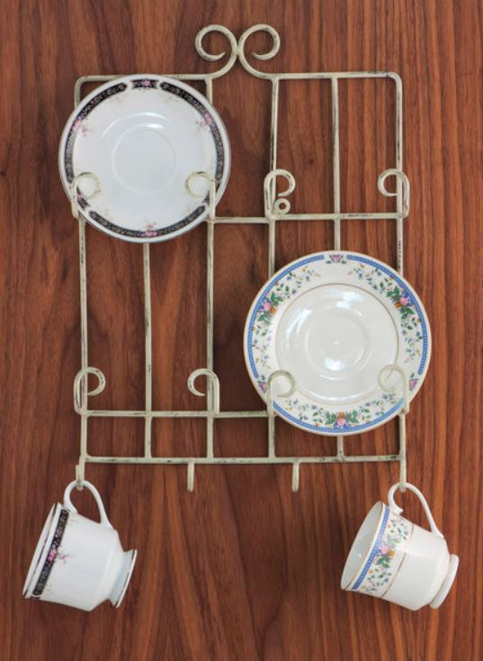 Cup and Saucer Hanger - Stacked Four Place
