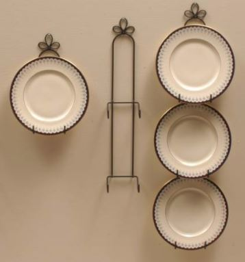 wrought iron plate hangers for 9