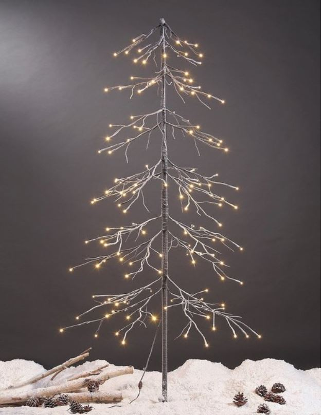 Display TreeS - Lighted Snowy Pagoda Fir Tree 6 Foot- Set of 2