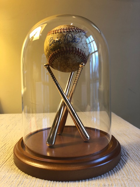 "Baseball Display Dome - 5-1/2"" x 8"" with Brass Baseball Stand"