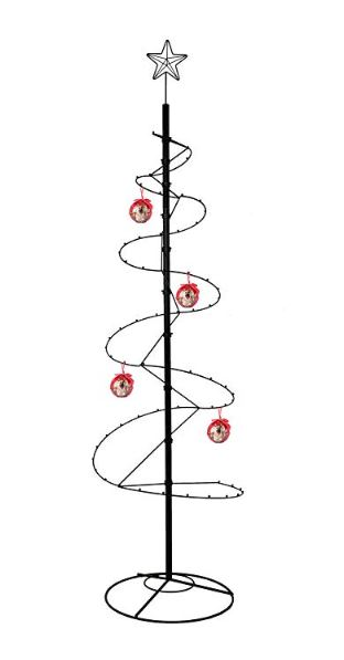 "Ornament Tree - Spiral Wire - 84"" Black"