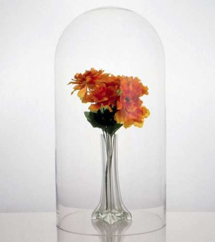 "Glass Domes - Large  - 10"" x 18-1/2""H - Set of Two"