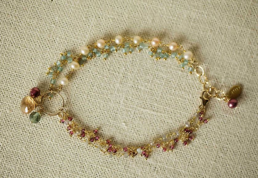 Anne Vaughan Designs - Gumdrop Gemstone Multistrand Bracelet