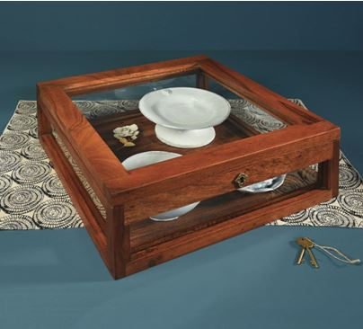 Wood Plate Display Case