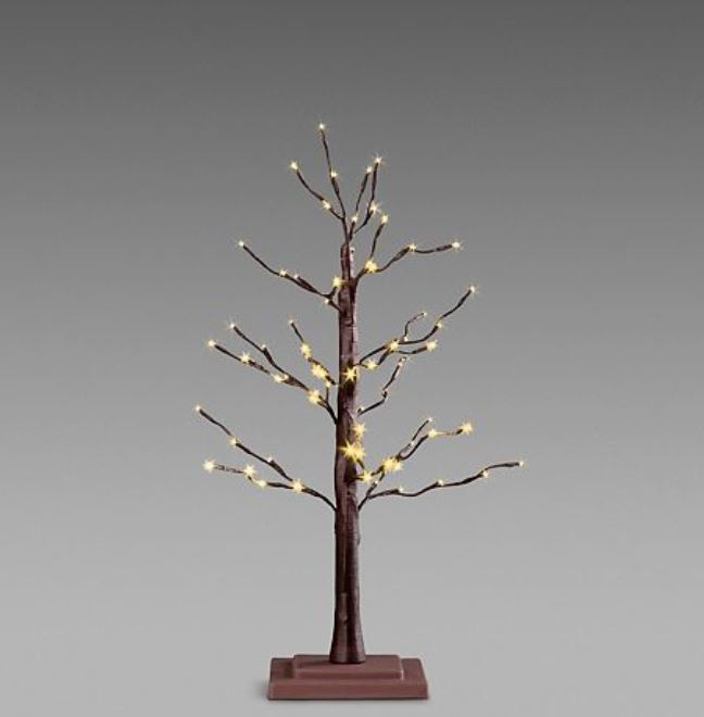 "Lighted Display Tree - Brown Twig 30"" H"