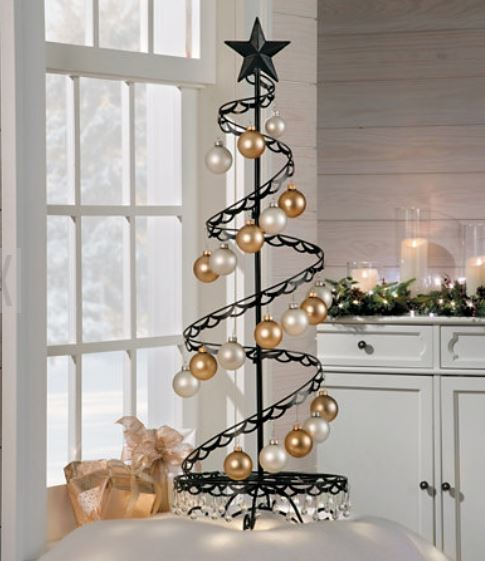 Ornament Trees - Spiral Wire Ornament Tree - 3 Foot