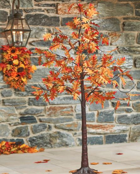 Lighted Display Tree - Fall Oak Leaf