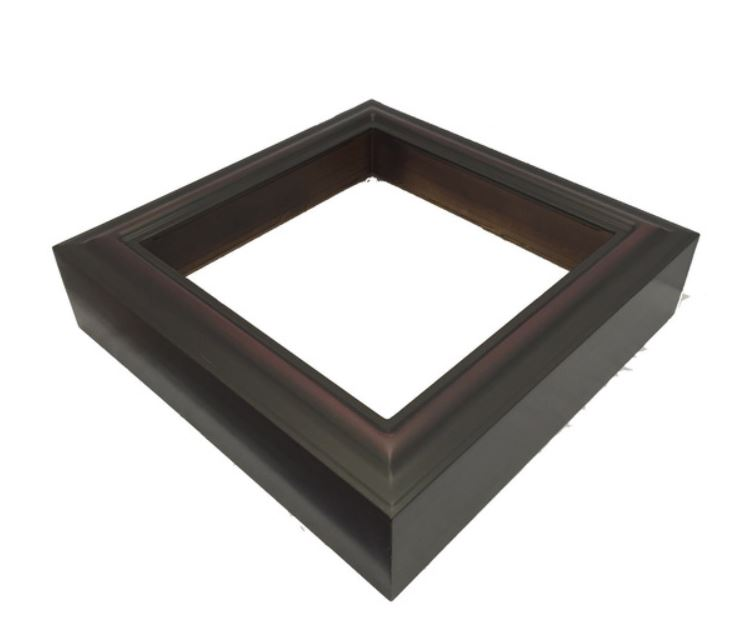 Custom Shadow Box Display Case - 10 x 10 Rosewood