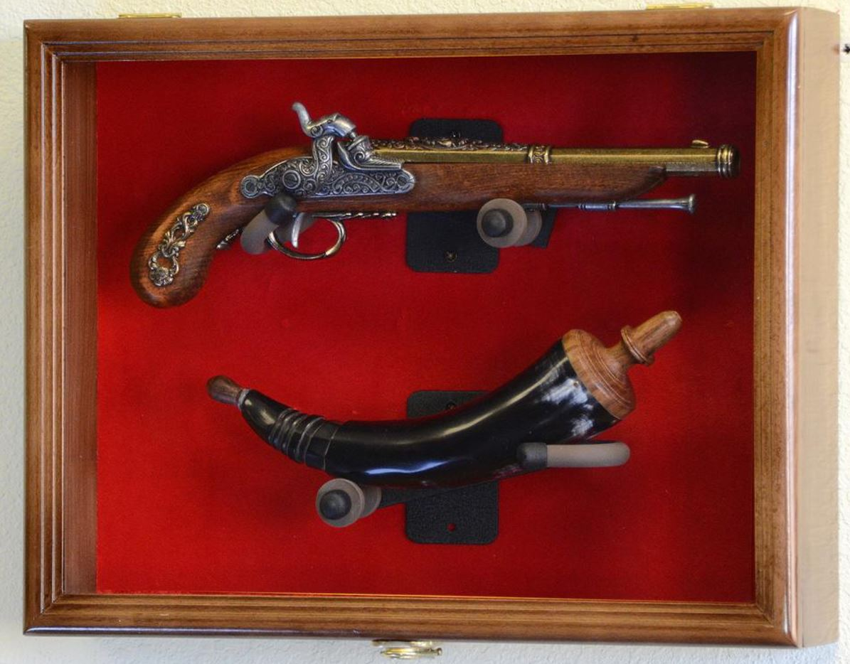 Gun Display Case - Antique Pistol Display