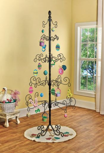 Ornament Tree - Large Wrought Iron Scroll Tree