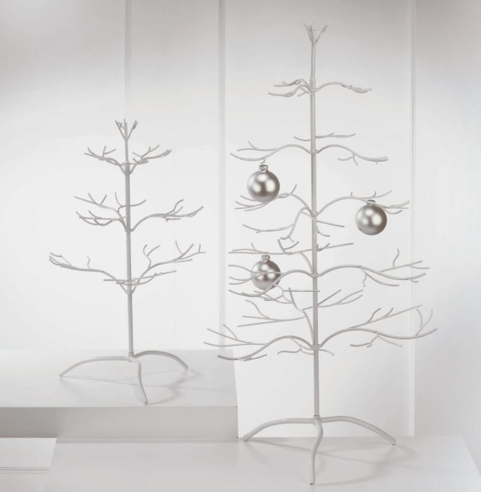 Ornament Tree -  White Natural 25""