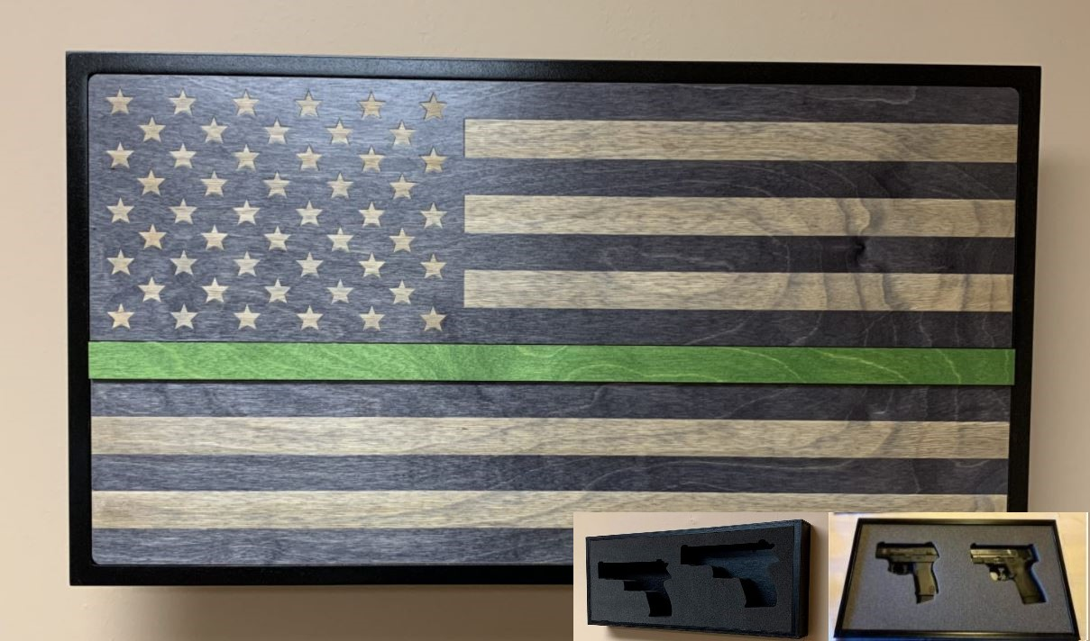 Hideaway Display - Green Line Service Flag