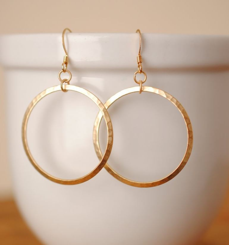 Anne Vaughan Designs - Hammered Gold Plated Earrings