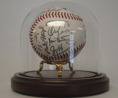 Baseball Display Dome - 5-1/2 x 5-1/2 with Brass Stand