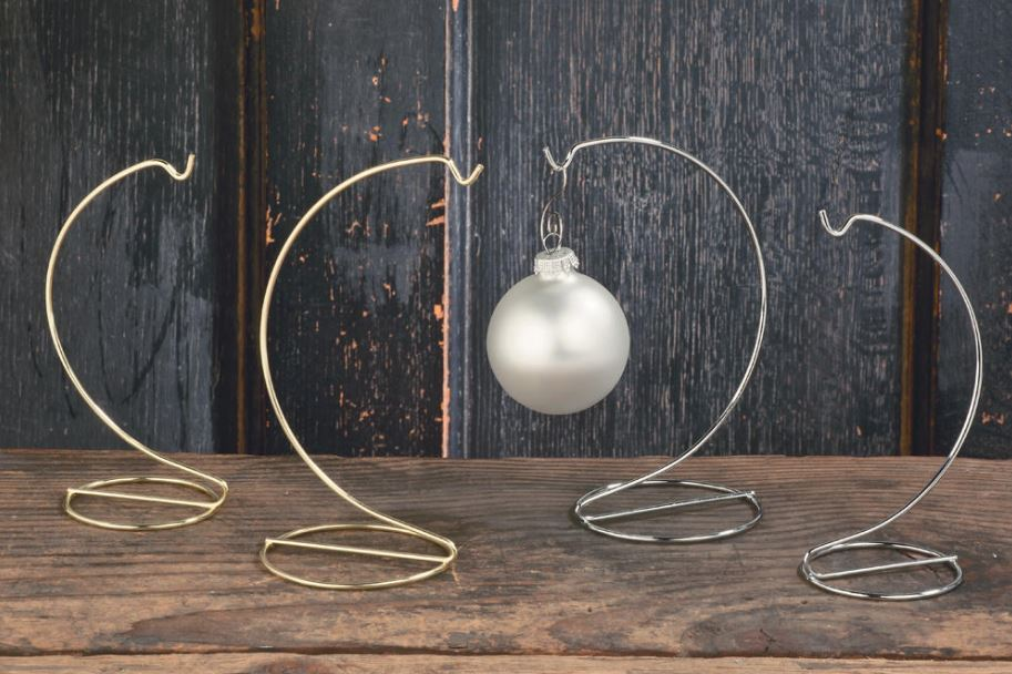 Ornament Stands - Brass or Chrome Wire - Set of 6