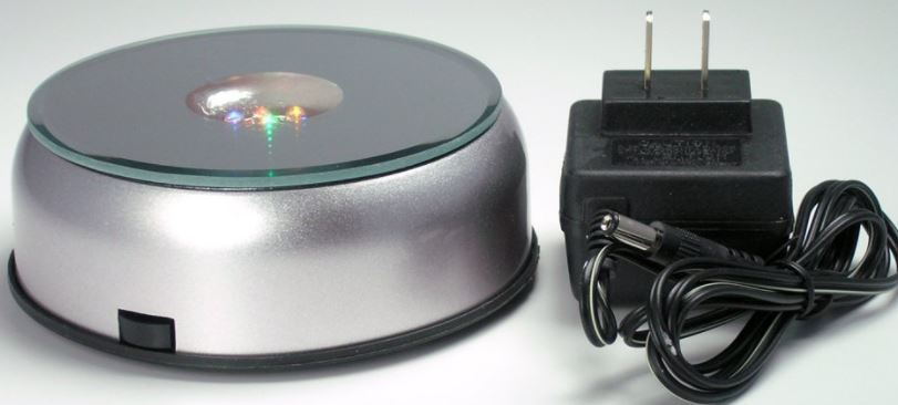 Battery Turntable - Economical - Colored Lights