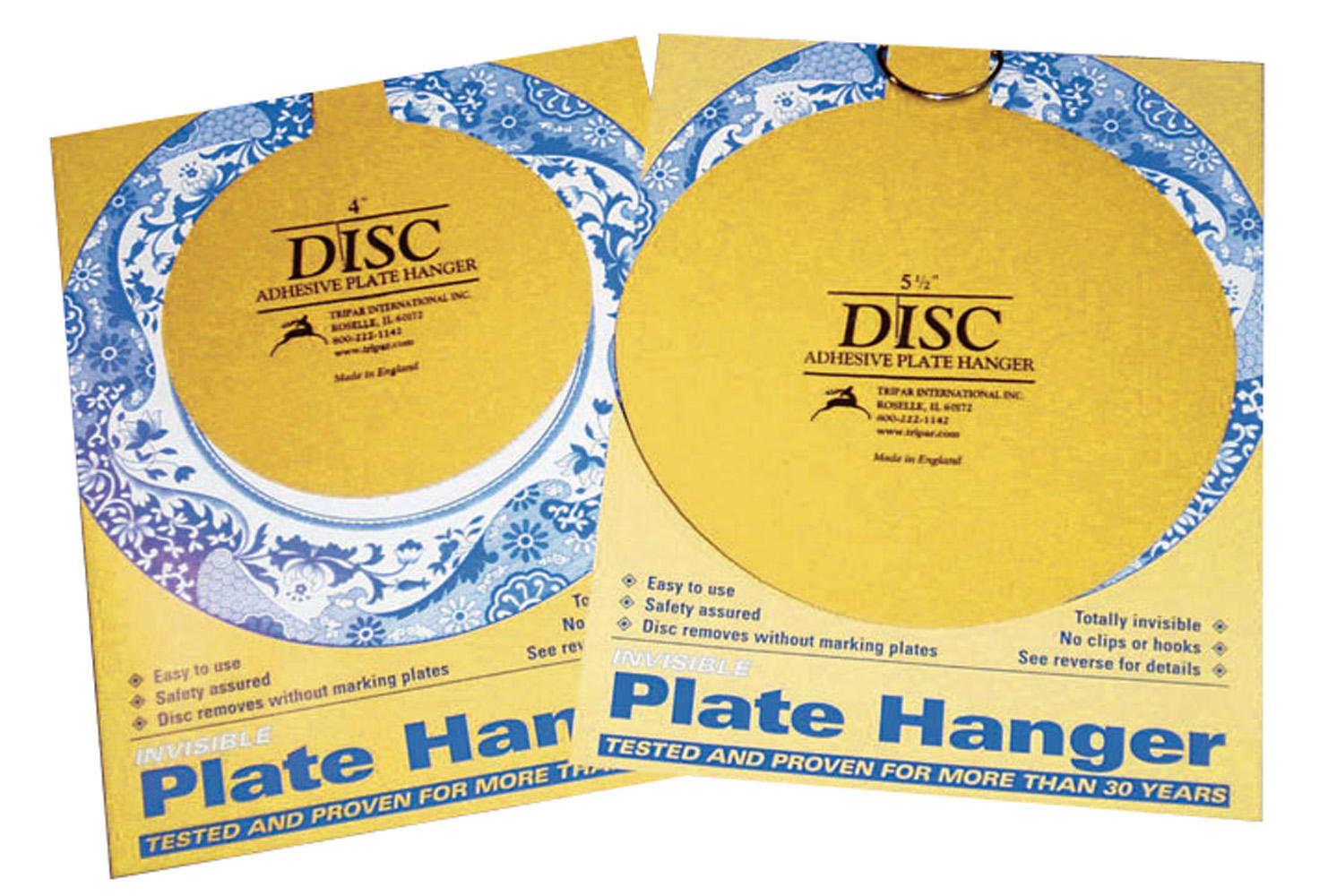 Plate Holders - Self Stick Removable Disc Hangers - Dozen