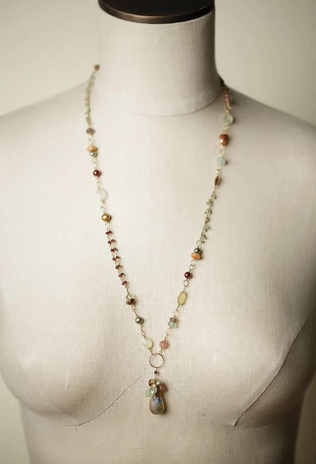 Anne Vaughan Designs - Gumdrop Collage Cluster Necklace