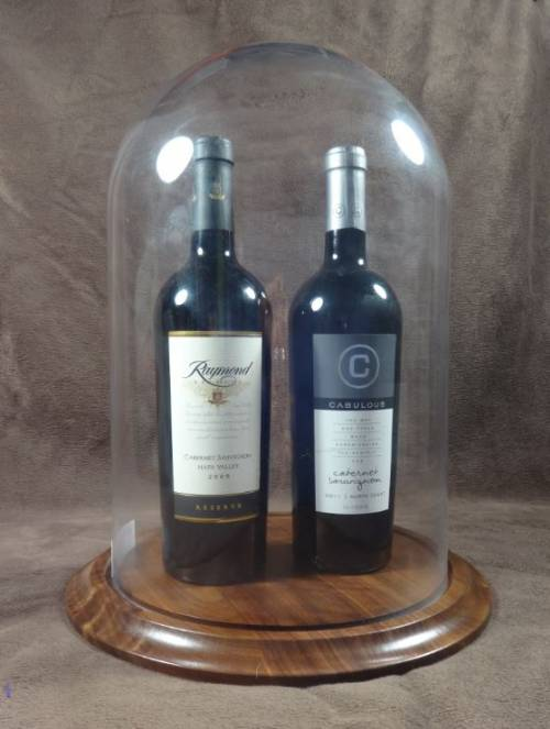 "Wine Display - Glass Dome 10"" x 15""H Multi Bottle"