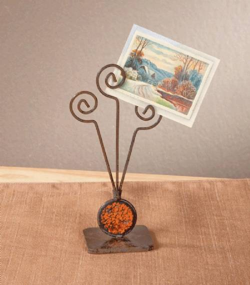 Photo Holders - Crackle Glass