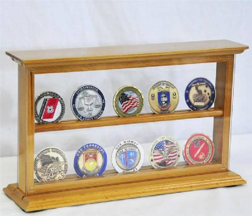 Coin Display Case - Two Shelf