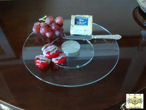 "Glass Lazy Susan Turntable - 12"" or 14"""