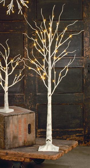 Display Tree - Medium Lighted White Birch