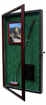 Golf Putter Display Case with Photo Frame & Name Plate