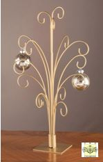 Ornament Trees - Gold Metal Ornament Stands - Set of 2