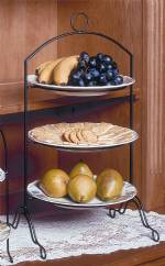 Pie or Plate Racks - Triple Tier - Footed