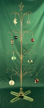 "Ornament Trees - Rotating Large - 72"" Curled Branch With Star"